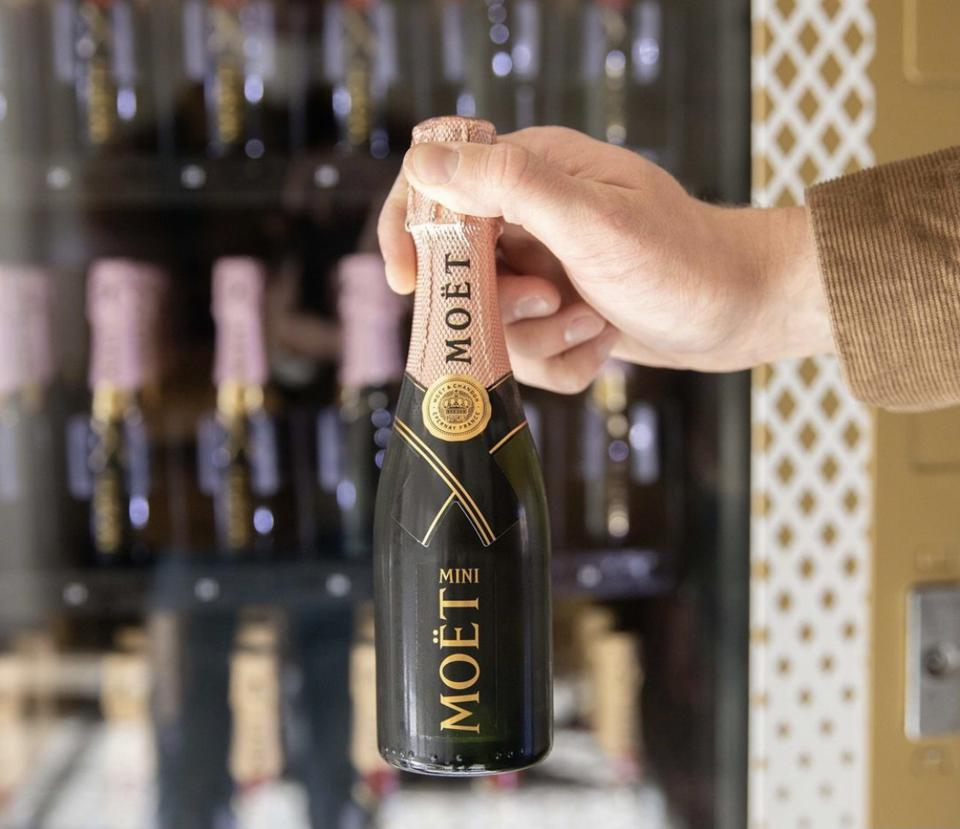 The mini Moet is a big hit at this boutique hotel in California wine country.