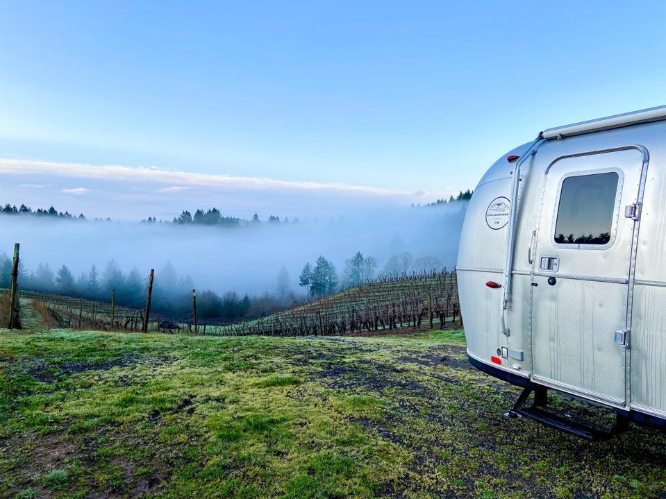 Airstream at a vineyard