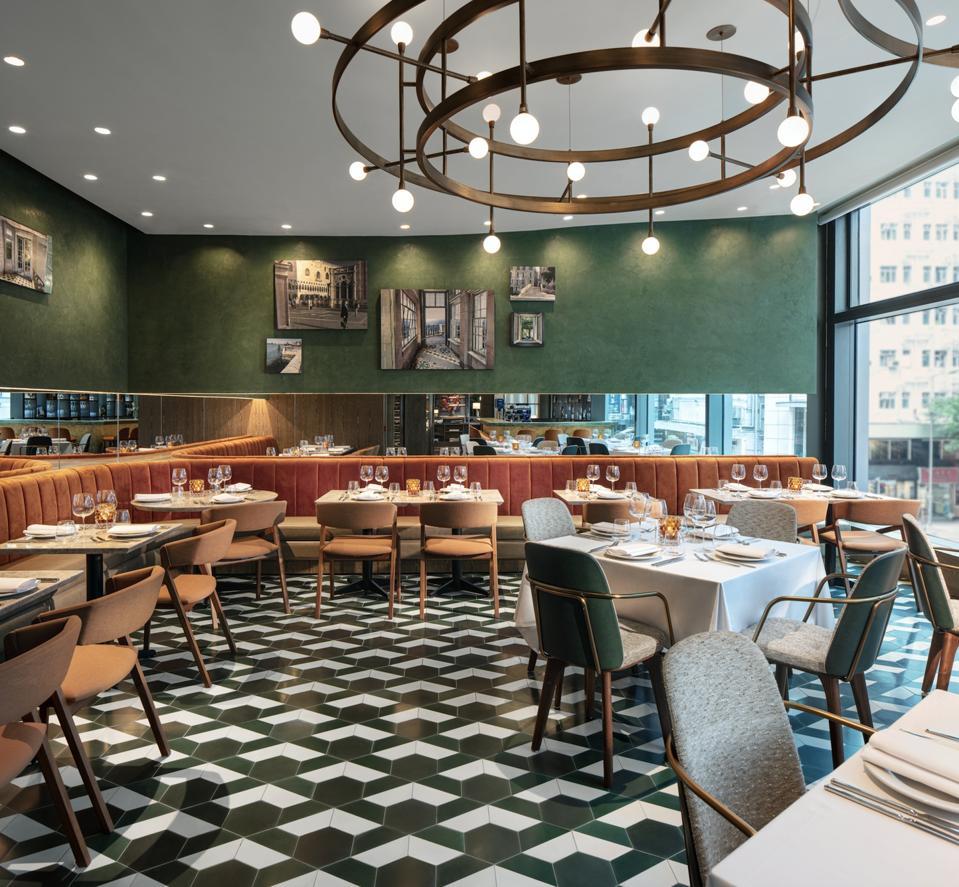 Italian restaurant Lucciola at The Hari Hong Kong.