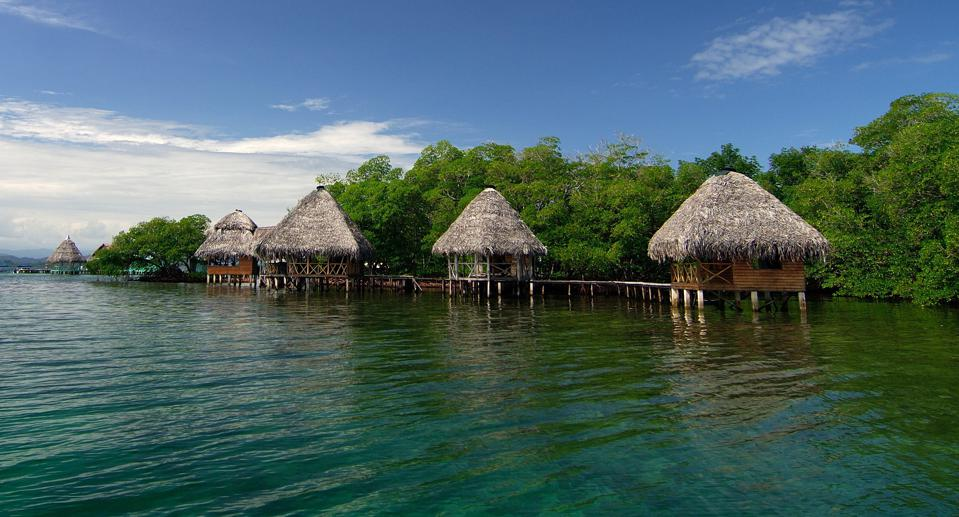 Huts upon the water make for a vacation with solitude and a nature connection