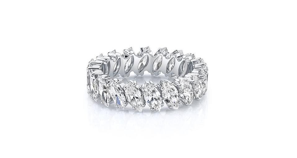 Anita Ko ring in 18K white gold with 3.8 carats diamond, $18,800, anitako.com
