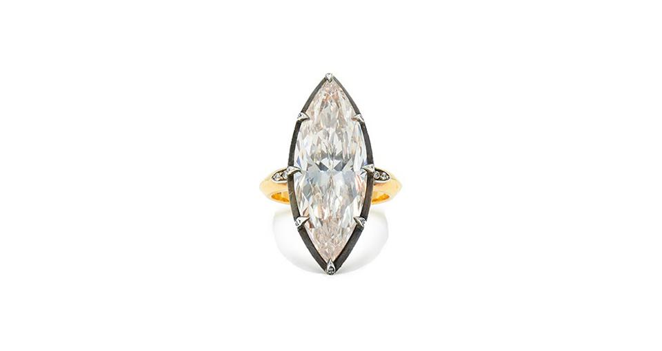 Fred Leighton Collet ring in 18K gold with 11.19 carats diamond, $254,000, fredleighton.com