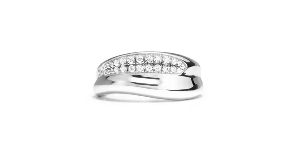 Judith Ripka Eros ring in sterling silver with .265 carats diamond, $895, judithripka.com