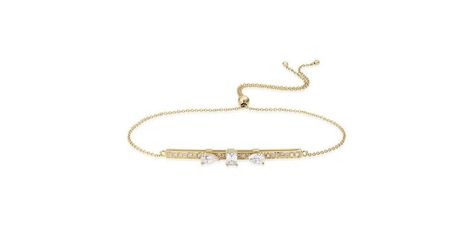 Caye Joaillier Dizzy Diamonds bracelet in 18K yellow gold with .82 carats diamond, $2,950, cayejoaillier.com