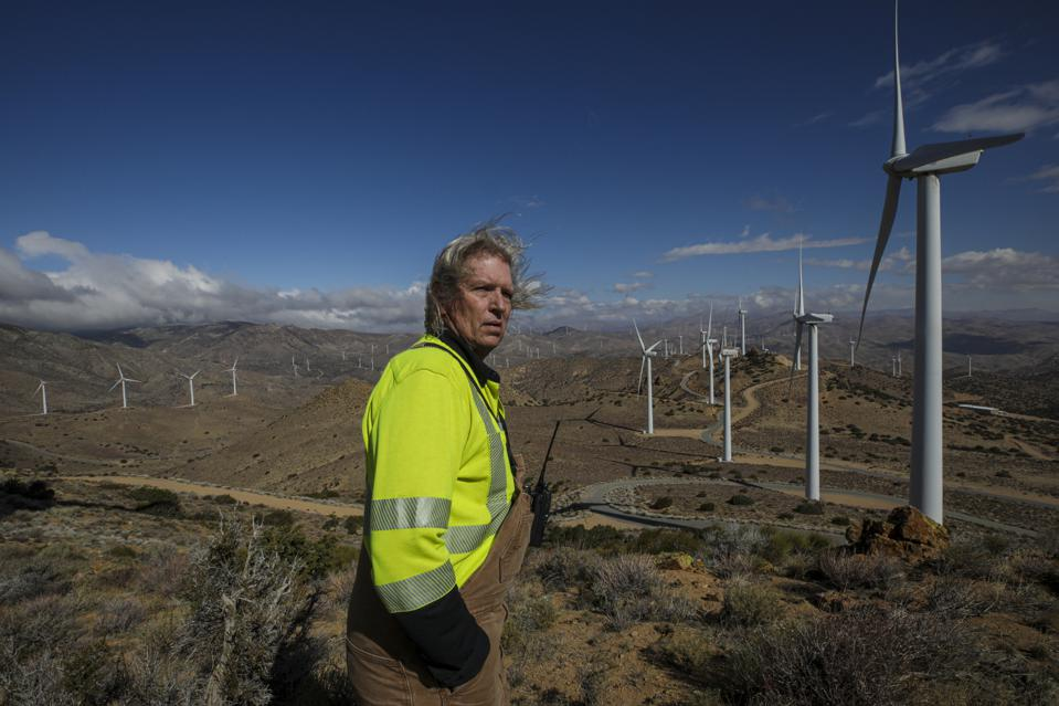 LADWP's Pine Tree Wind Farm and Solar Power Plant in the Tehachapi Mountains