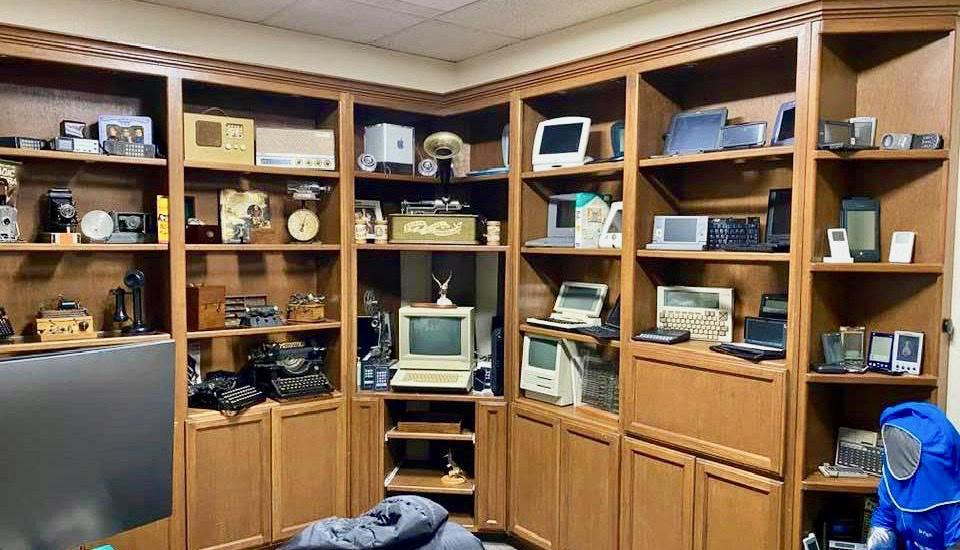 Personal tech museum spanning over a century of analog and digital devices.