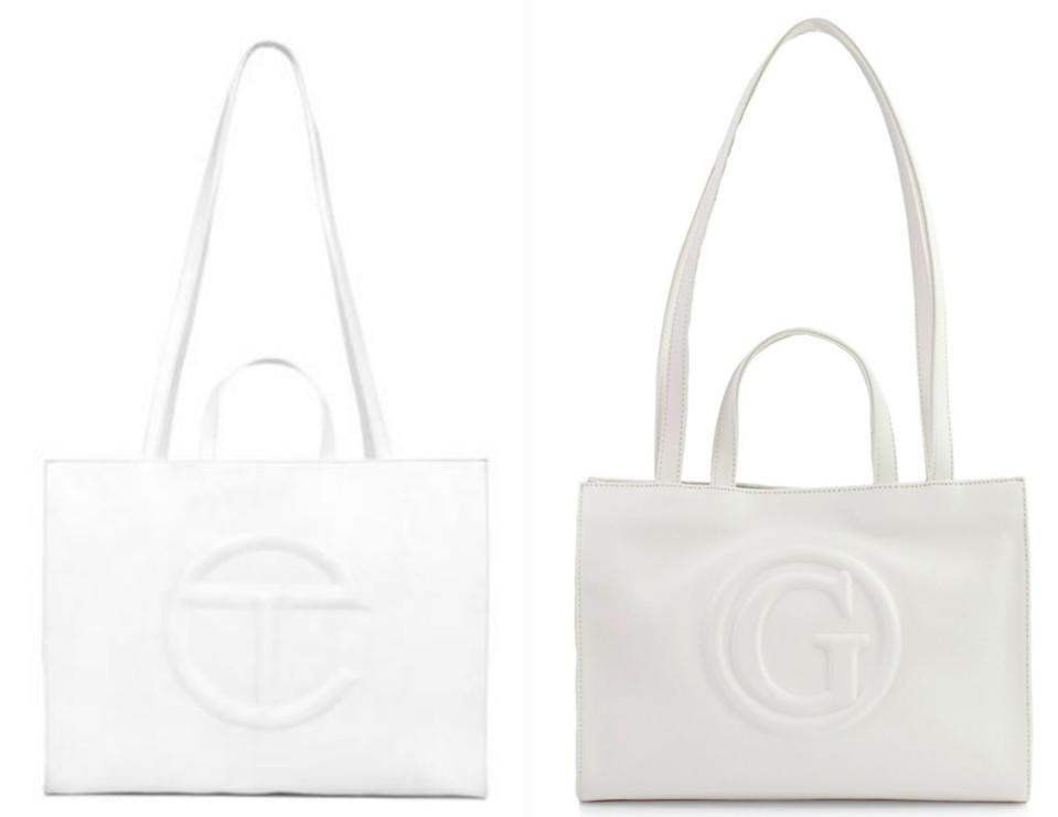 Guess. Telfar. shopping tote. bag.