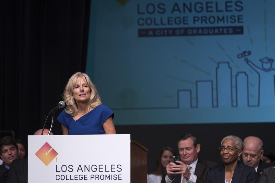 Jill Biden helps launch Los Angeles College Promise