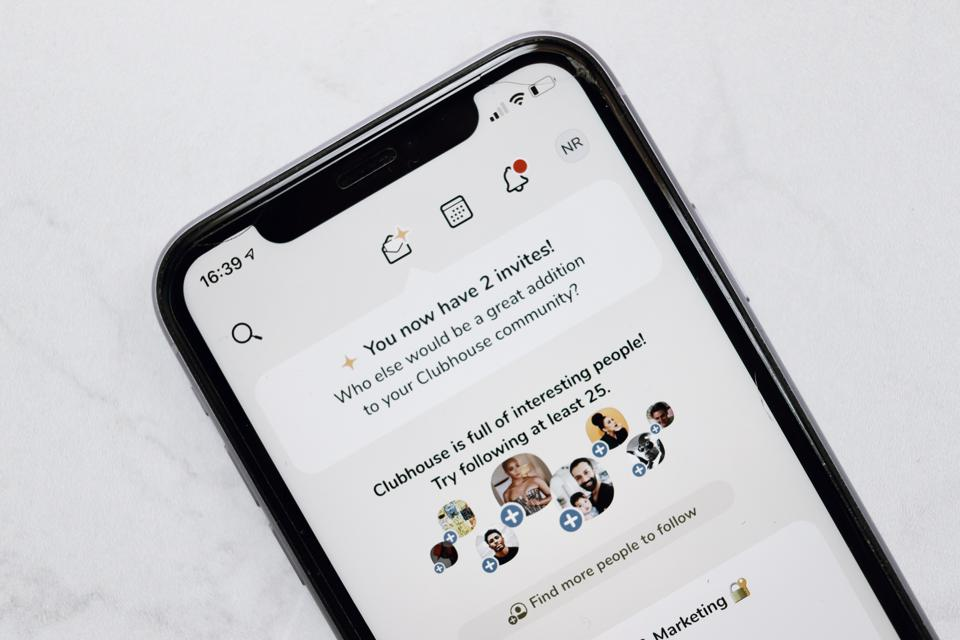 Clubhouse app on mobile phone
