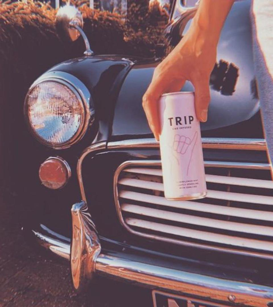 TRIP Elderflower and Mint CBD Drink