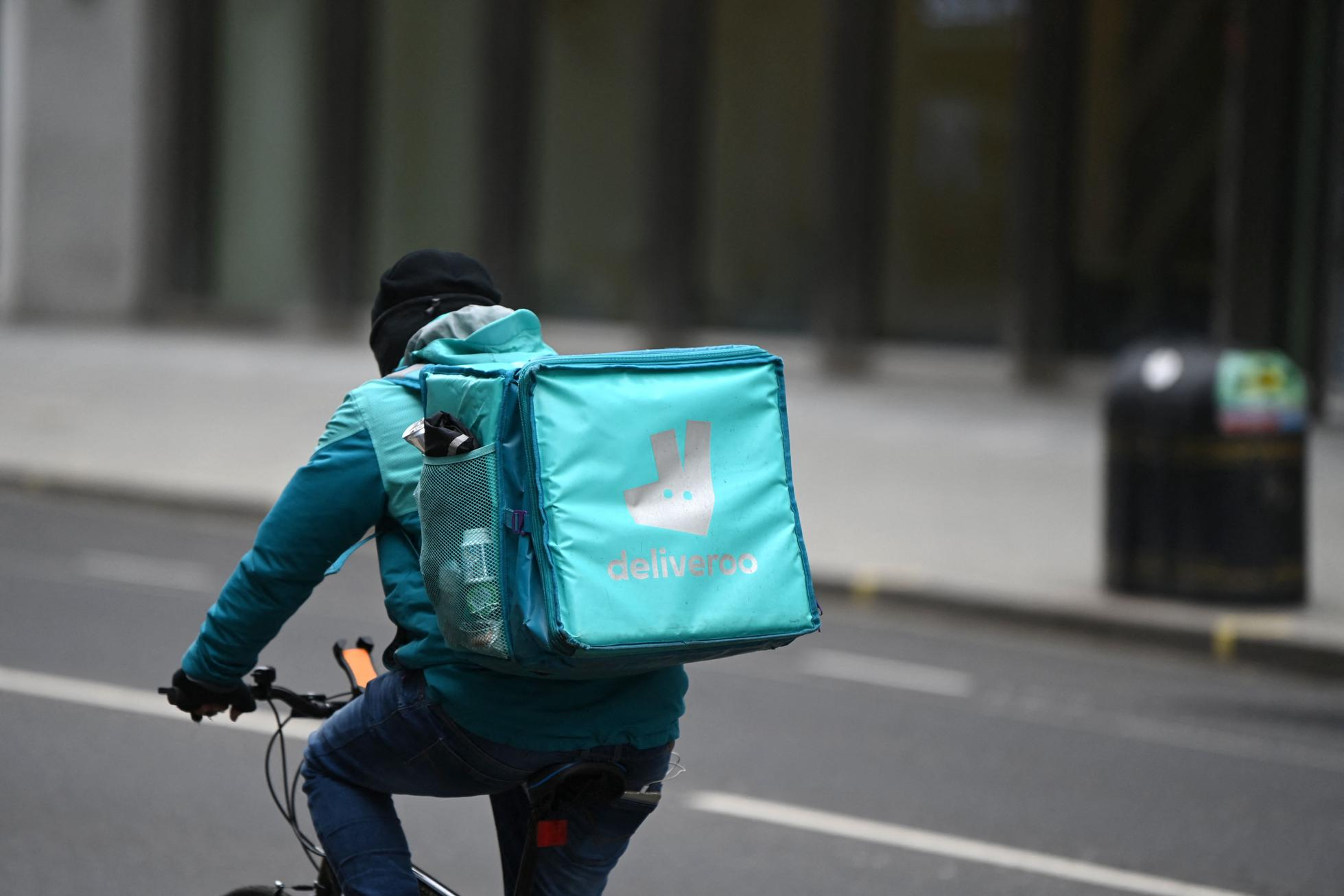 A Deliveroo courier in London ahead of the company's disappointing IPO.