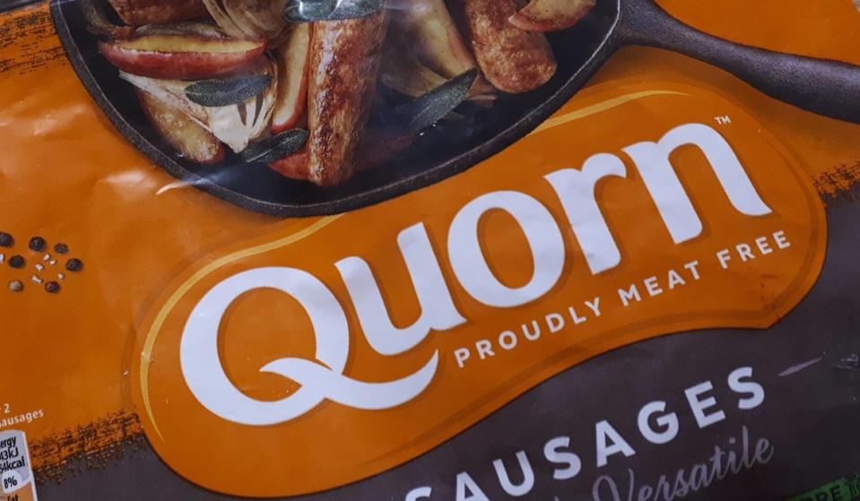 A pack of Quorn meat free sausages
