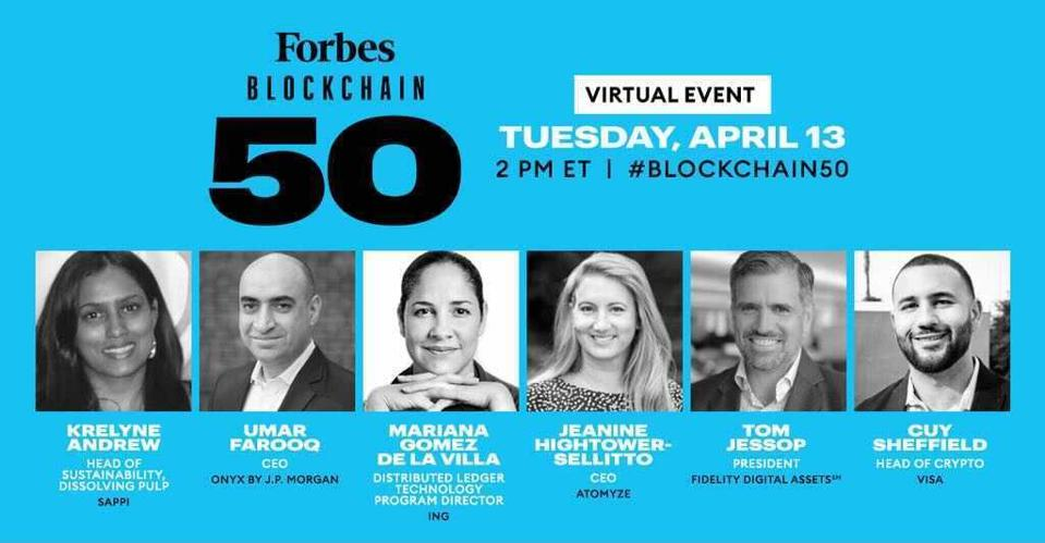 Forbes today announces its third-annual Blockchain 50 Symposium.