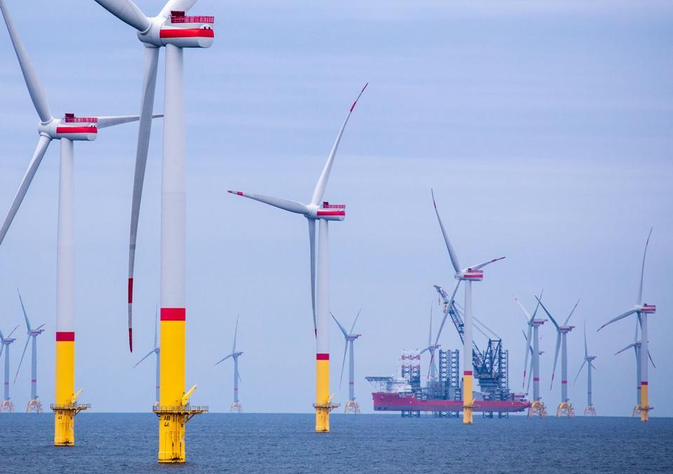 Wind farm in the Baltic Sea