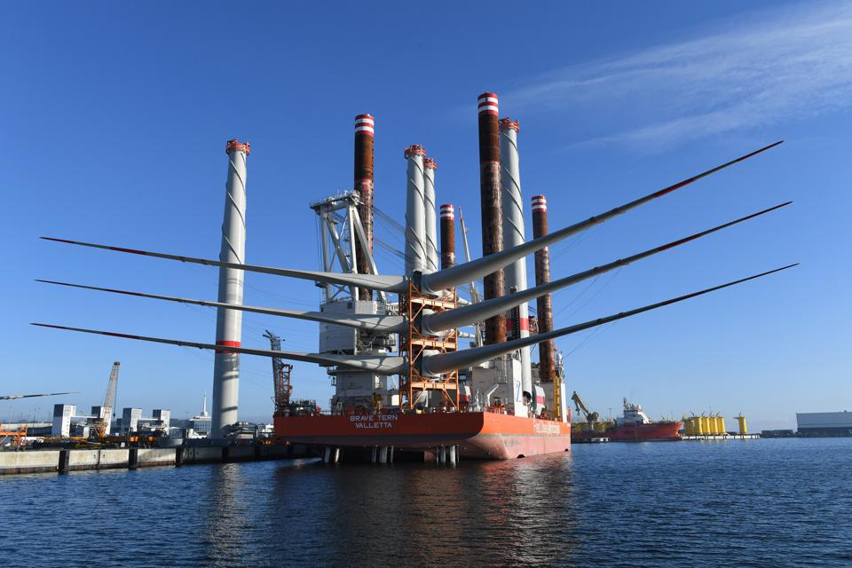 Baltic Sea wind farm 'Wikinger' prior to completion