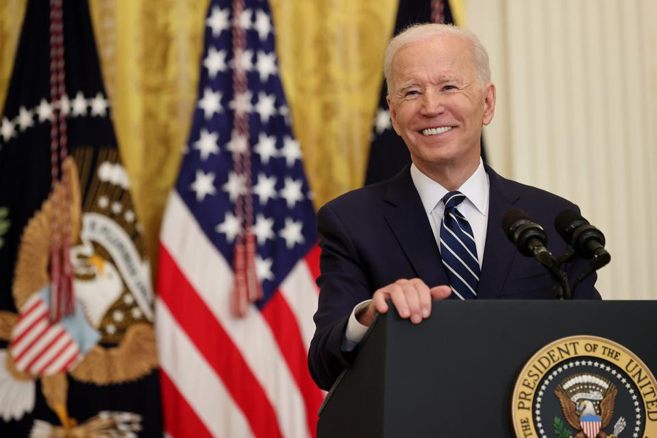Joe Biden Holds First Press Conference As President