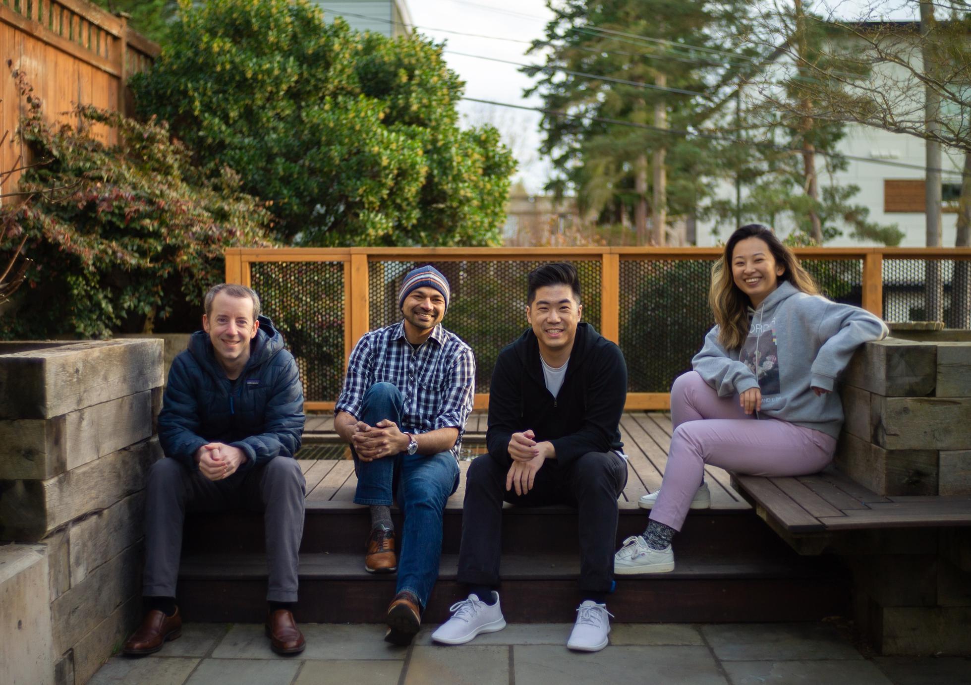 Common Room cofounders Tom Kleinpeter (left), Viraj Mody, Francis Luu and CEO Linda Lian.