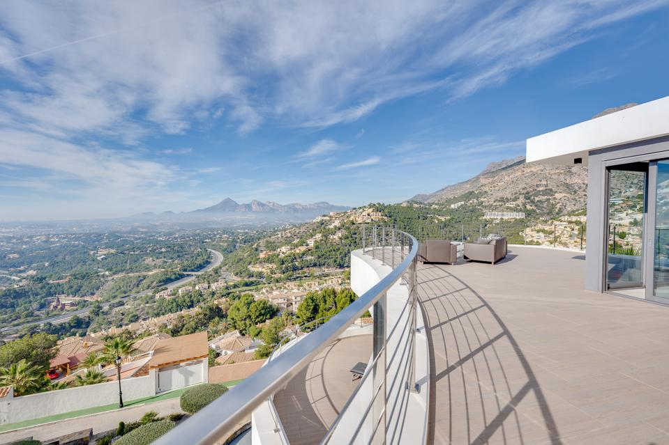 Unobstructed views over the Mediterranean landscape luxury villa in Altea Hills, Spain