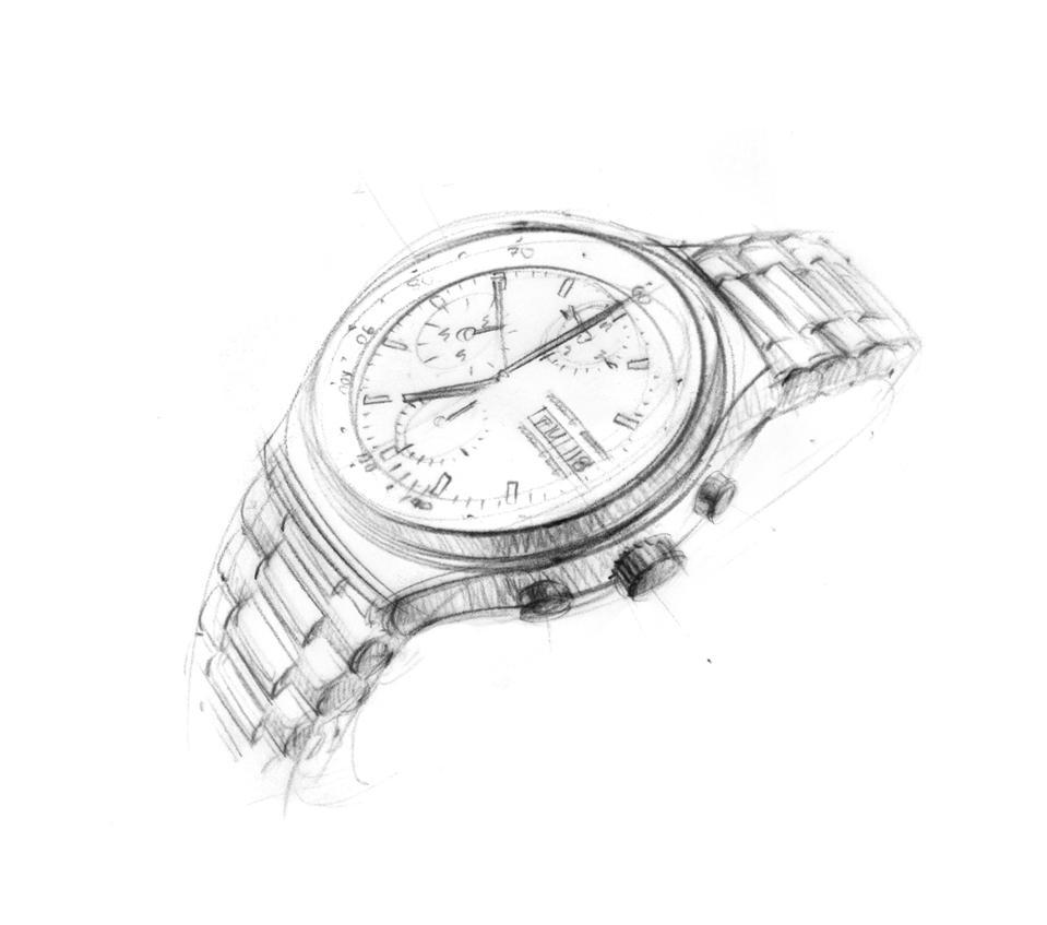 Porsche Design Chronograph sketch