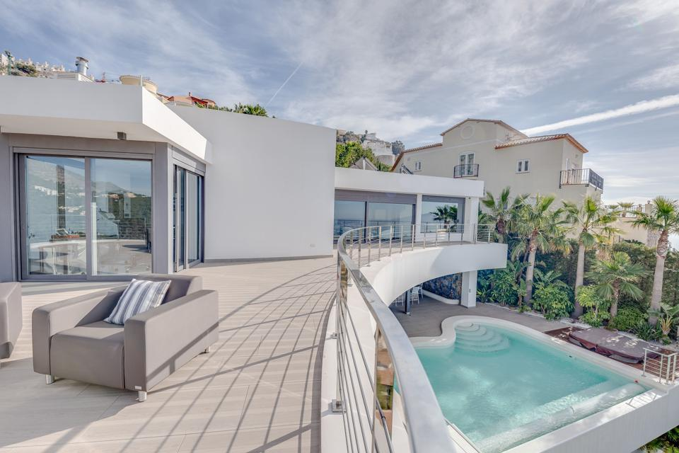 terrace patio and pool luxury altea home spain