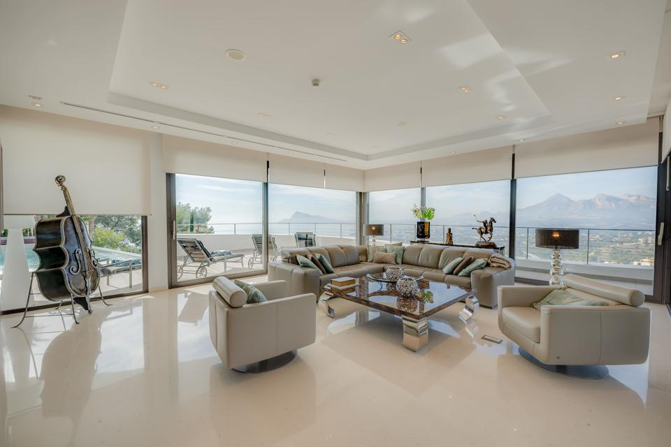 living room in a luxury villa in spain's altea hills complex