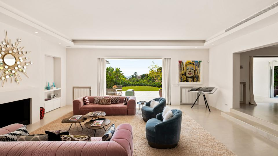 living room in a luxury villa spain marbella east los monteros