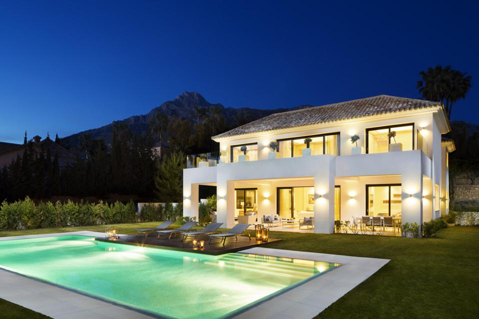 luxury villa and pool sierra blanca