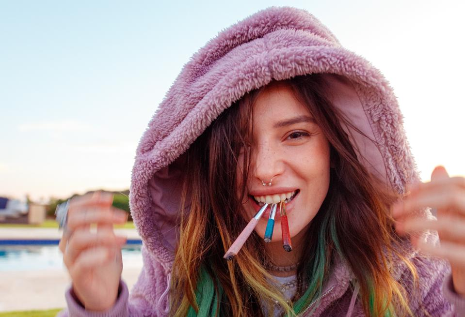 Bella Thorne speaks about her favorite strain of the moment, Forbidden Flowers feminine branding, and her hopes for what the future of the cannabis industry may look like.