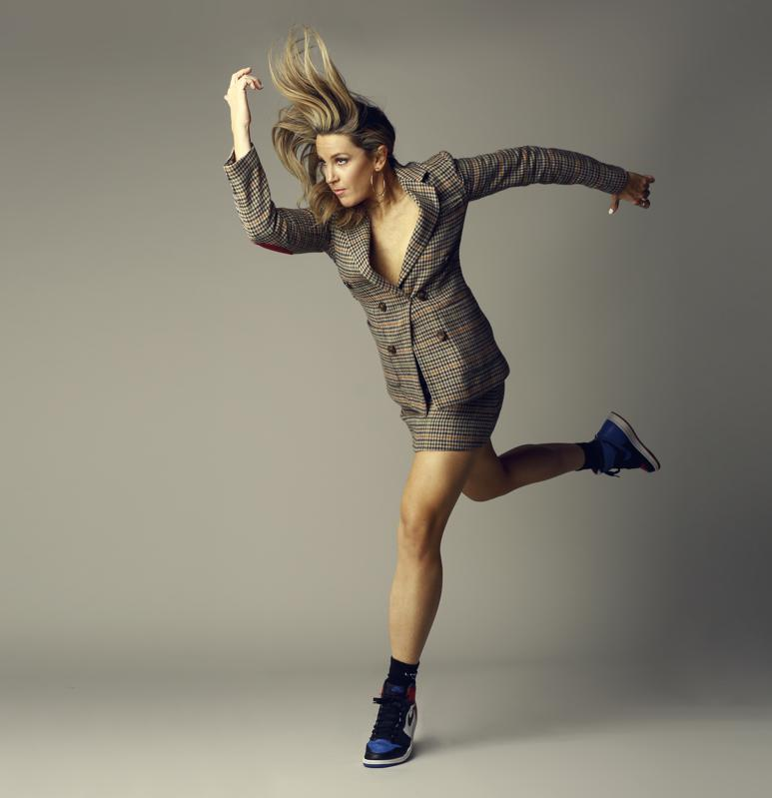 Kristin Sudeikis running