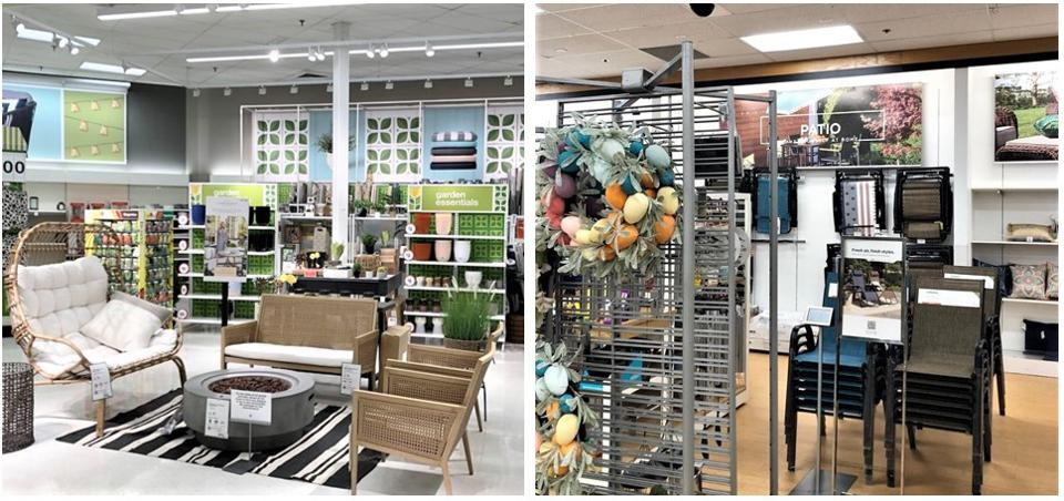 Comparing Target's and Kohl's spring outdoor presentation, one inspires, the other tires.