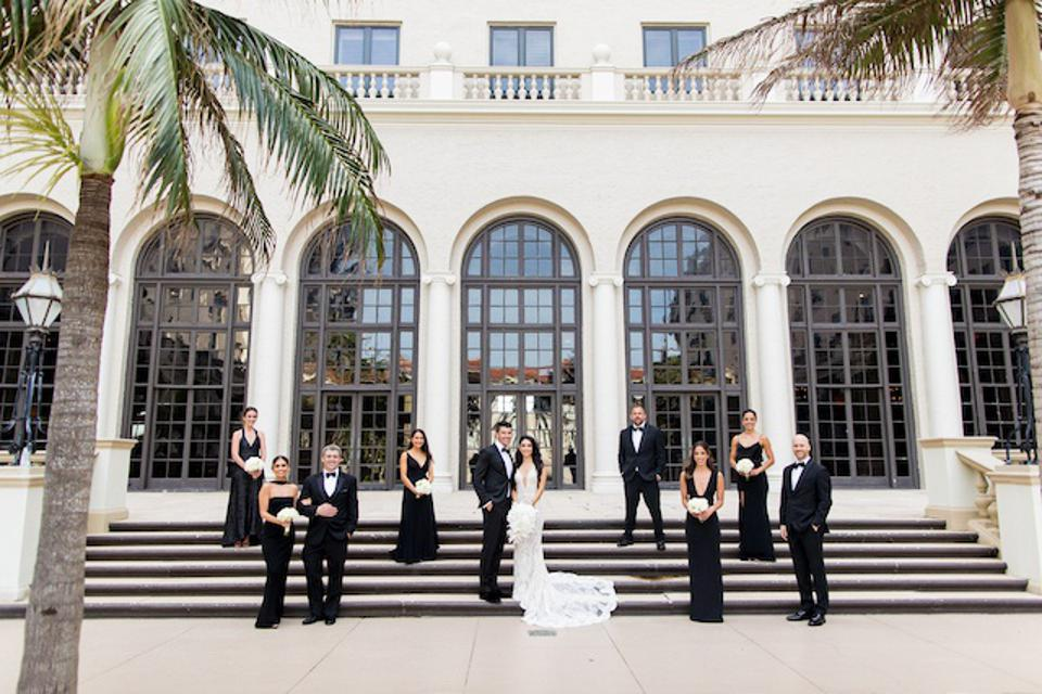 A socially distanced wedding at The Breakers