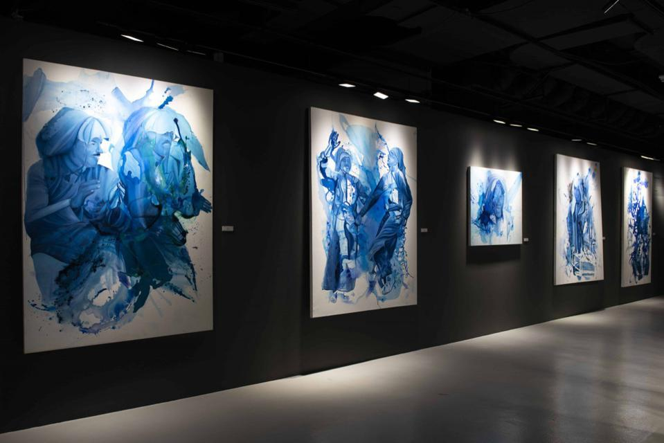 A gallery in Qatar featuring the work of Muna Al-Bader