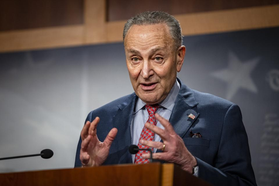 Senate Majority Leader Schumer Holds a Press Conference