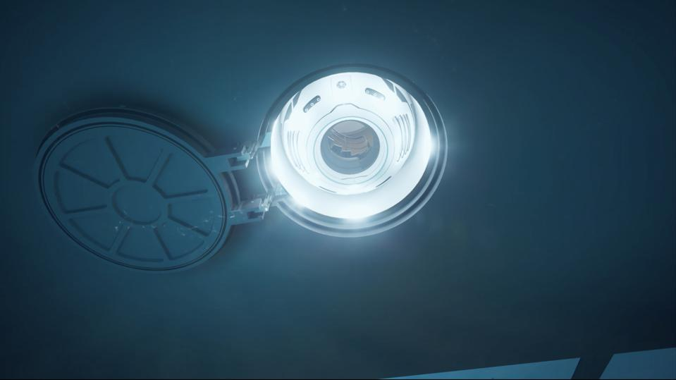 The Hydrosphere lowers like a elevator from the bottom of the super yacht and can even deploy while the yacht in motion