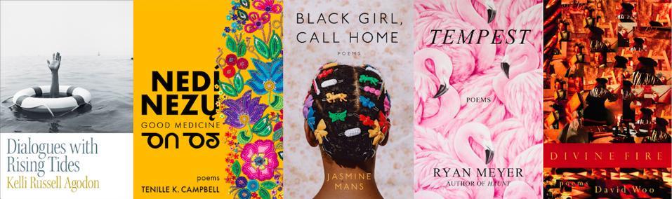 book covers poems poetry Kelli Agodon Tenille Campbell Ryan Meyer Jasmine Mans David Woo