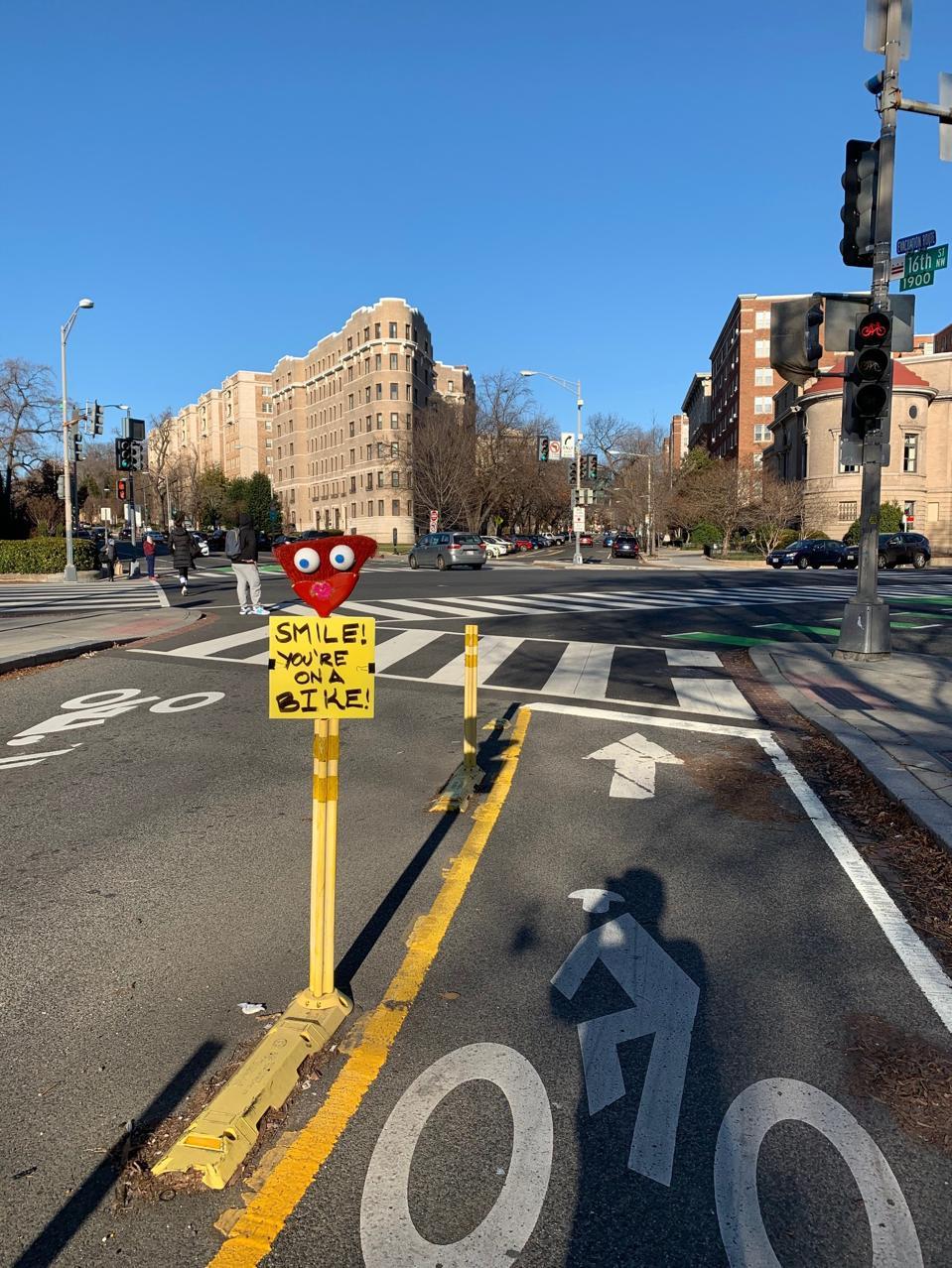 Bike lane in Washington D.C.