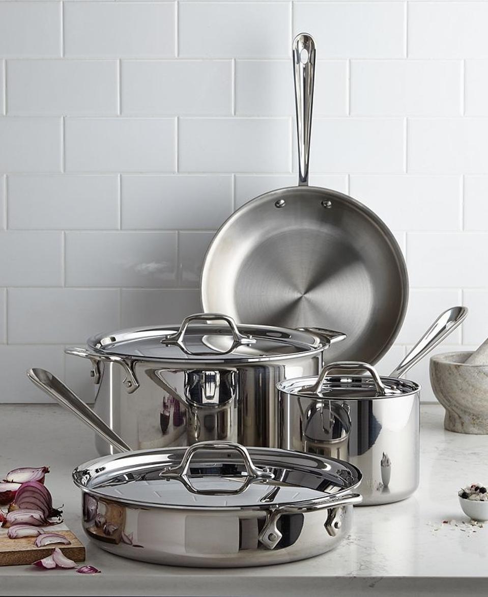 Best deals: All-Clad 7-Piece Stainless Steel Cookware Set