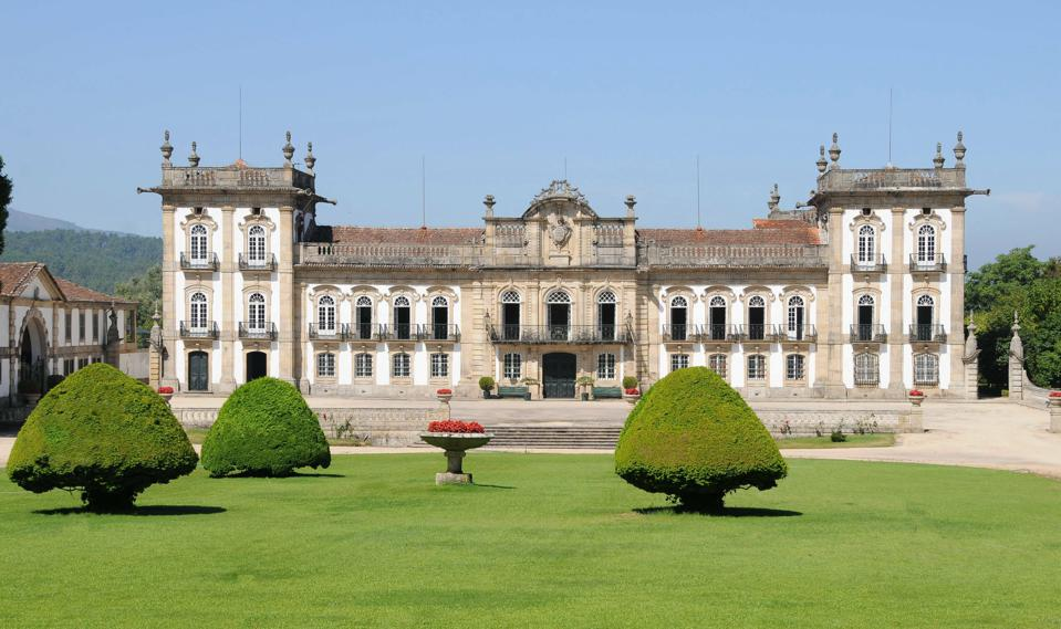 Summer residence palace of the Portuguese kings Brejoeira Palace Moncao