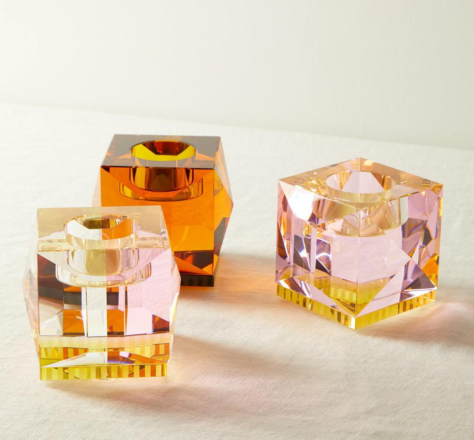 Set of Two Ophelia Crystal Tealight Candle Holders by Reflections Copenhagen