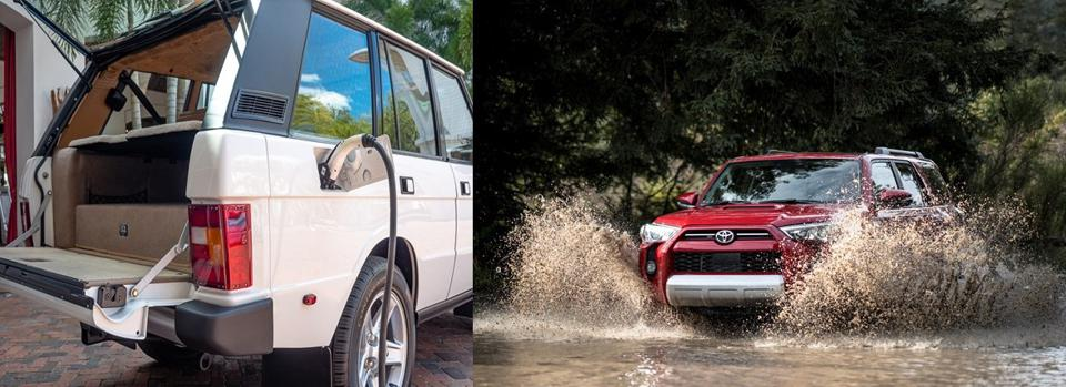 A Range Rover and Toyota 4Runner are undergoing radical conversions.