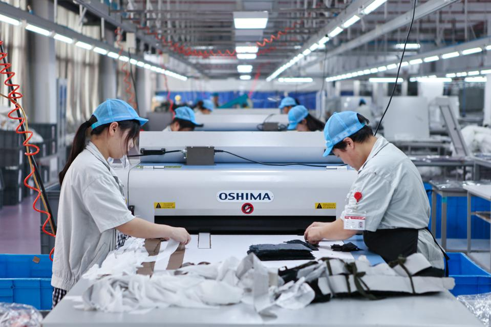 Workers Produce Export Garments