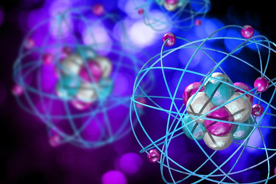 Atomic Particle 3D Illustration