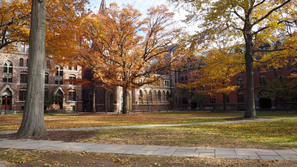 yale university and autumn foliage, New haven, Connecticut, United States