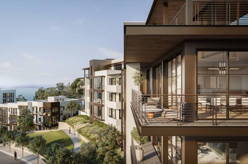 Multi-story condominium buildings