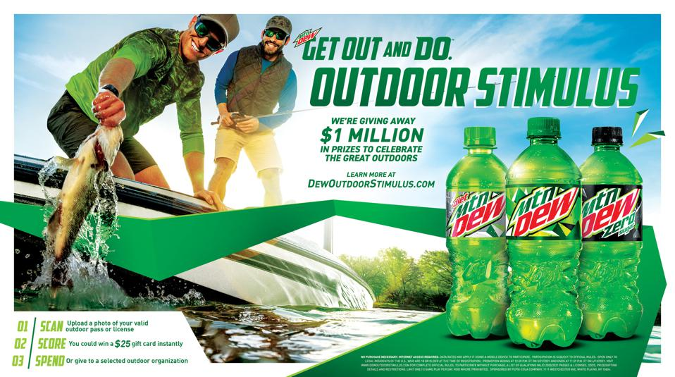 MTN DEW has brought back its popular Outdoor Stimulus through its ″Get Out and Do″ program