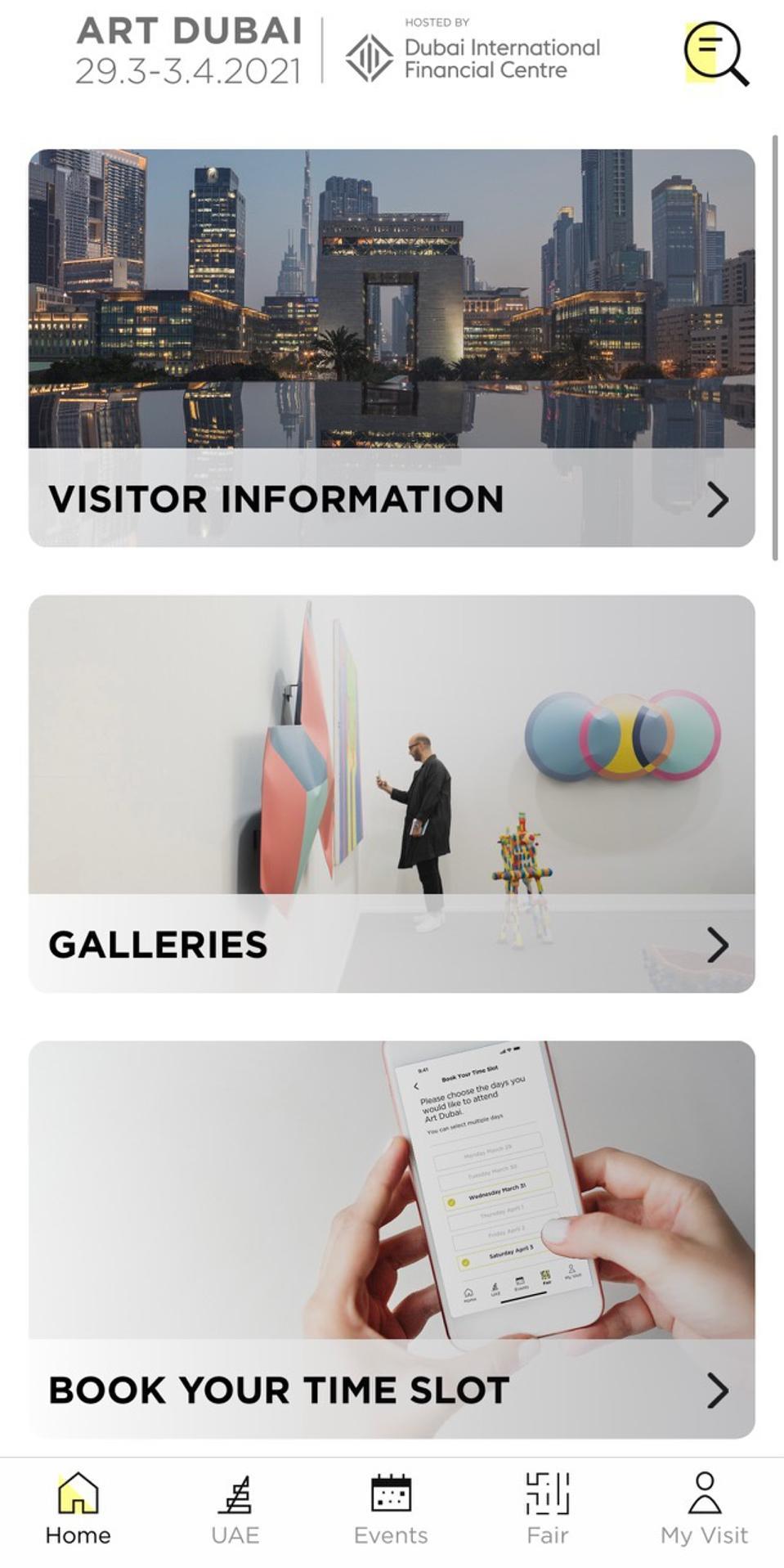 Art Dubai 2021 App