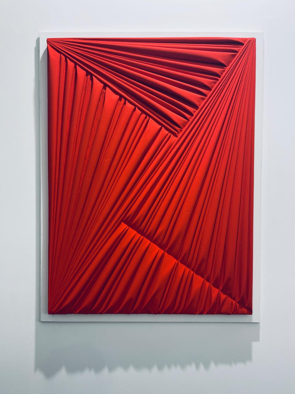 ″La Forma Celata, Red 2015″ by Umberto Mariani via Custot Gallery (Dubai)