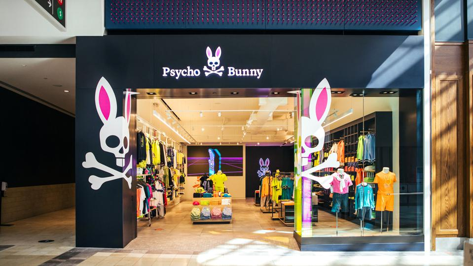 The entrance of the Psycho Bunny store at Westfield Garden State Plaza in Paramus, N.J.