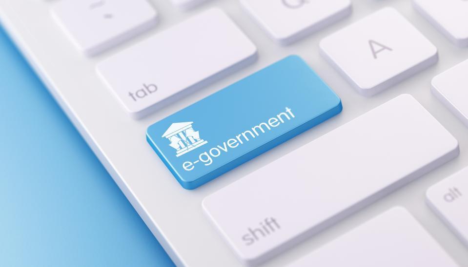 Modern Keyboard wih E Governmet Button