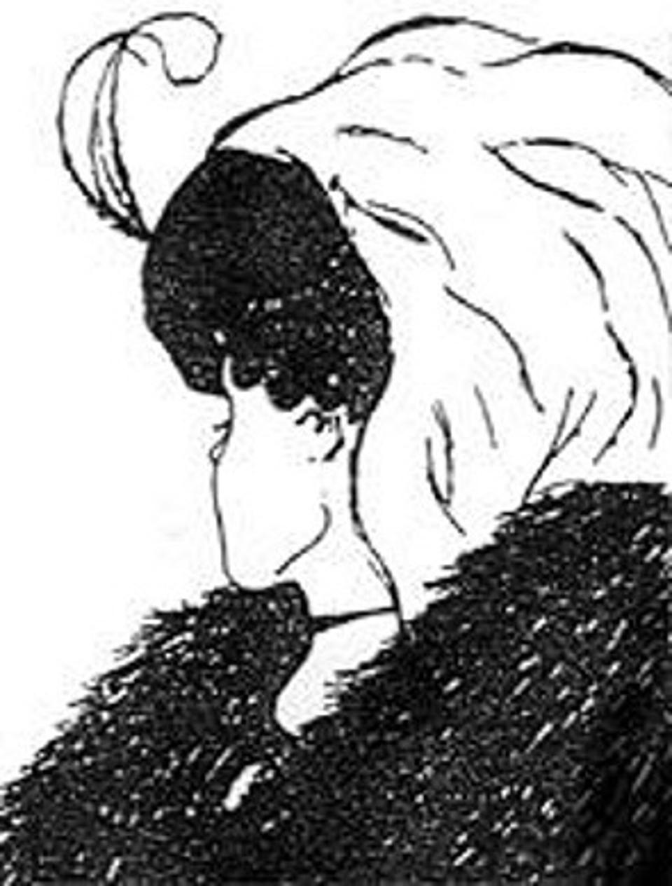 Drawing in which the viewer may see either a young woman or an old woman